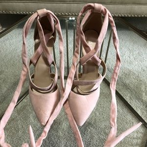 Simmi Shoes blush lace up heels- size 10